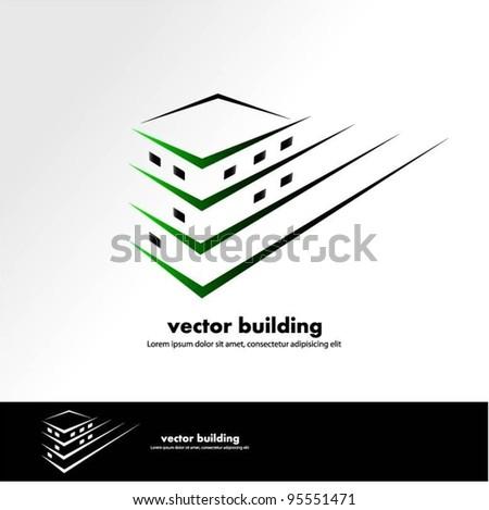 vector building design - stock vector