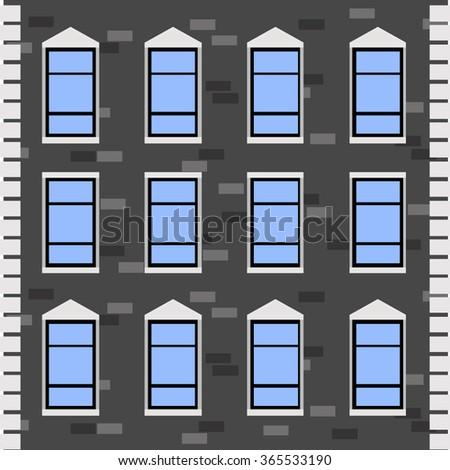 Vector Building Facade - stock vector