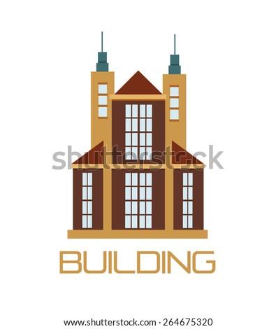 Vector building logo - stock vector