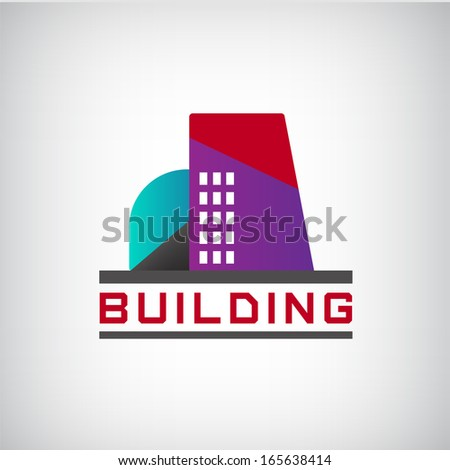 vector building logo colorful construction isolated, city