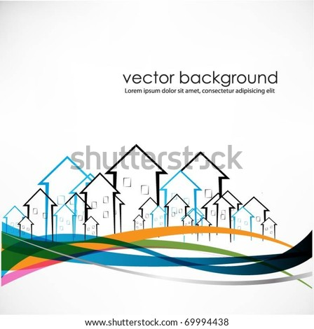 vector buildings - stock vector