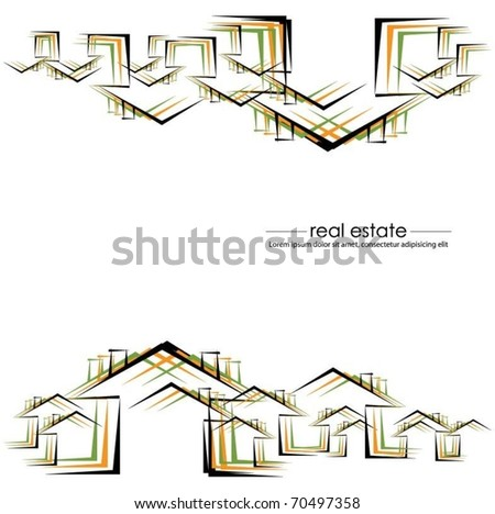 vector buildings background - stock vector