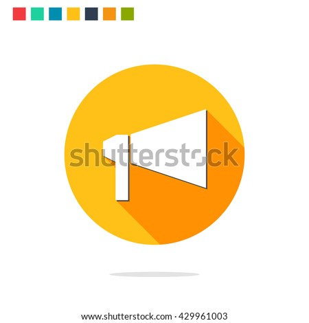 Vector bullhorn icon stock vector 429961003 shutterstock vector bullhorn icon publicscrutiny Gallery