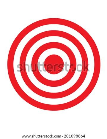 Vector Bullseye Graphic - stock vector