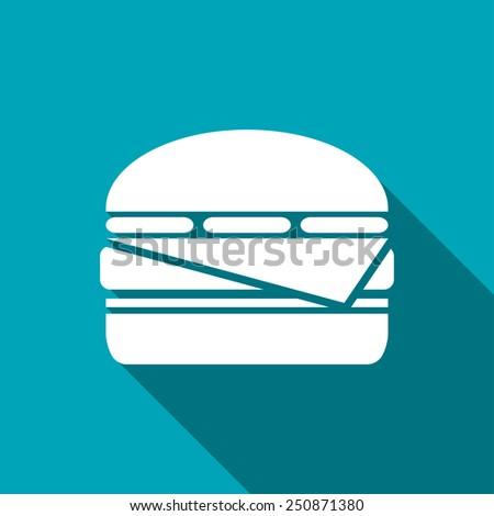 Vector  burger icon. Food icon. Eps10 - stock vector