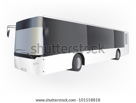 Vector bus, isolated on white