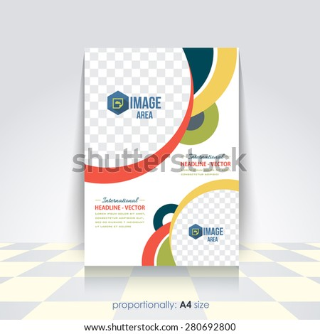 Vector Business A4 Flyer, Brochure. Cover Template, Corporate Leaflet Design Template  - stock vector