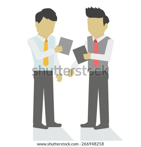 Vector business advisor is about working together. - stock vector