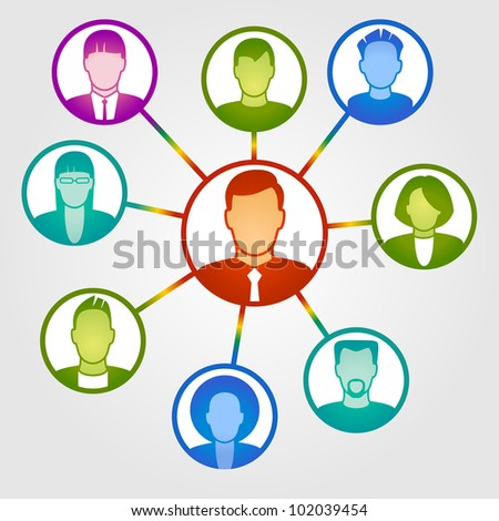 Vector business and Communication concept. File is saved in AI10 EPS version. This illustration contains a transparency - stock vector