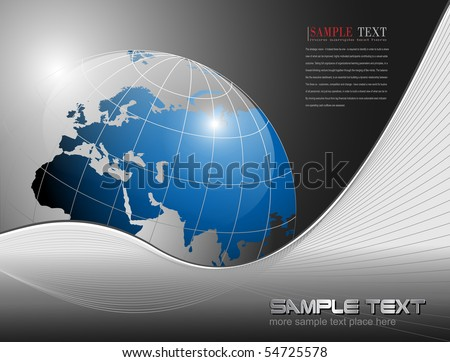 vector business background with earth globe.