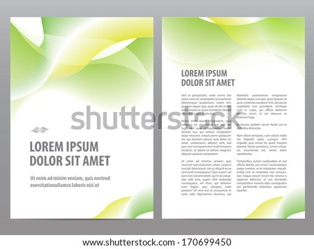 Vector business brochure blank design, flyer or cover print template - stock vector