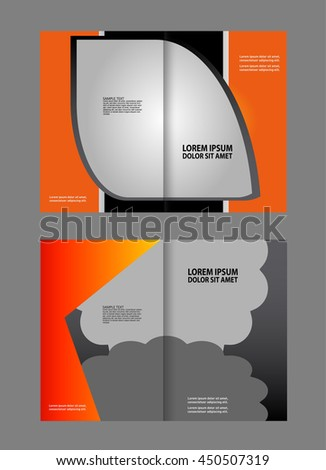 Vector Business Brochure Booklet Template Stock Vector 450507319