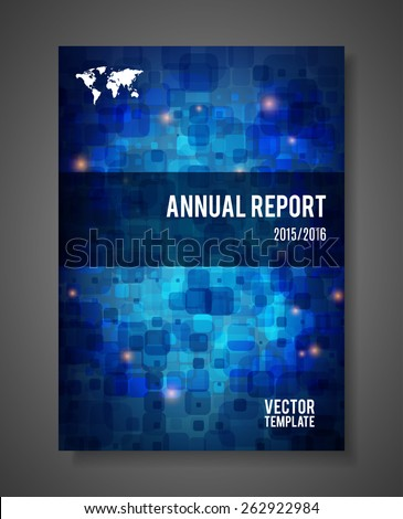 Vector business brochure design, Business Report template  - stock vector