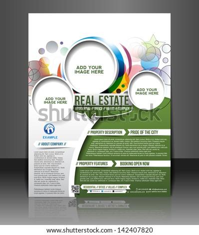 Vector business brochure, flyer, magazine cover & poster template - stock vector