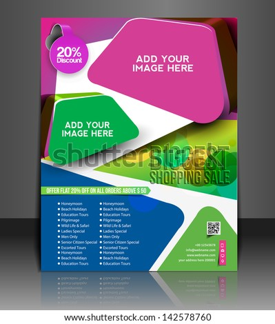 Vector business brochure, flyer, magazine cover & poster template - stock vector