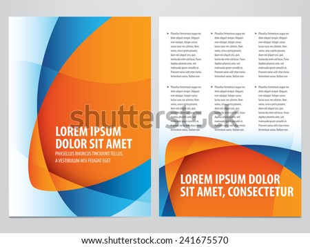 vector business brochure, flyer template - stock vector