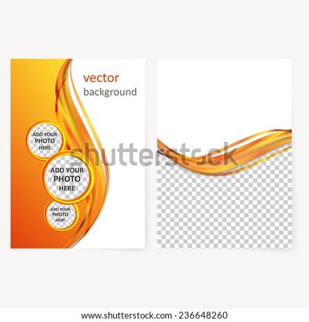 Vector Business Brochure Flyer Template Blank Stock Vector 2018