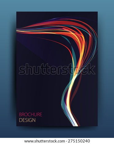Vector business brochure flyer template or corporate banner design in A4 size. - stock vector