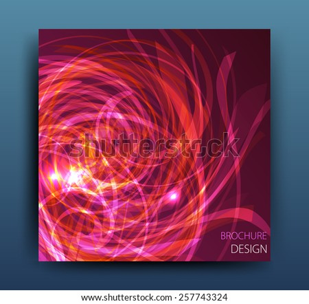 Vector business brochure flyer template or corporate banner design . Modern abstract web, poster ,brochure design template. - stock vector