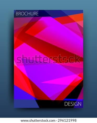 Vector business brochure template or corporate banner design . Modern abstract web, poster ,brochure design template.