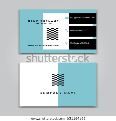 Vector Business Card Creative Design Modern Trend Style Front And Back Samples Luxury