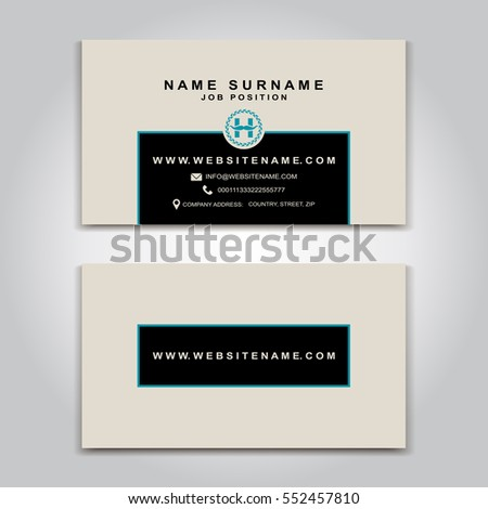 Vector business card creative design modern stock vector 552457810 vector business card creative design modern trend style front and back samples luxury reheart Images