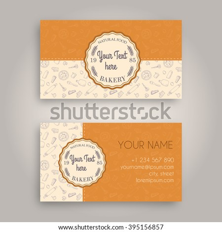 Sweet Bakery Packaging Design Template White Business Card Paper