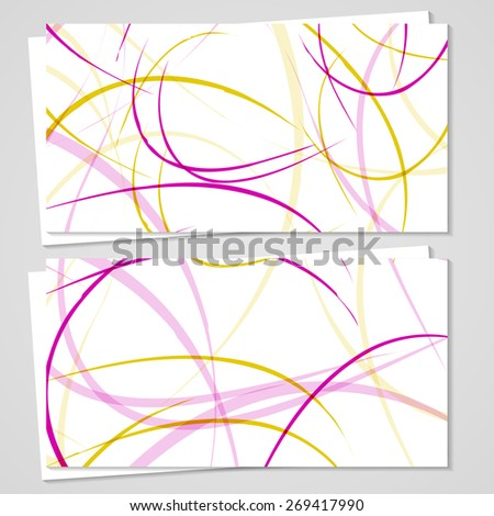 Vector business-card  set for your design, abstract Illustration. - stock vector