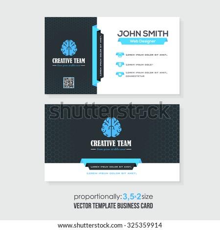 Vector Business Card Template - stock vector