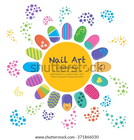 Vector business card template nails art stock vector hd royalty vector business card template nails art templates vector layout with colorful nails background reheart Gallery