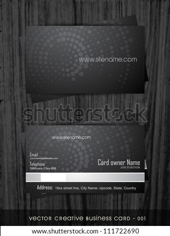 vector business card template set - stock vector