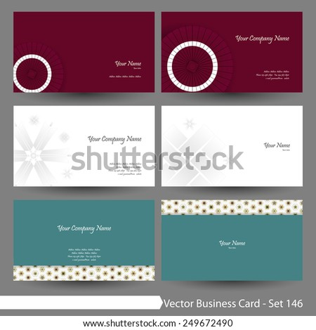 vector business card template set japanese stock vector 249672490