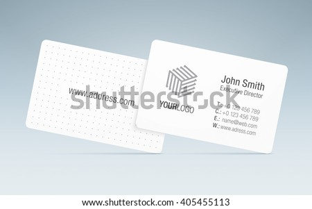 Vector business card template sleek business stock vector 405455113 vector business card template sleek business card with generic company logo contact information accmission Gallery