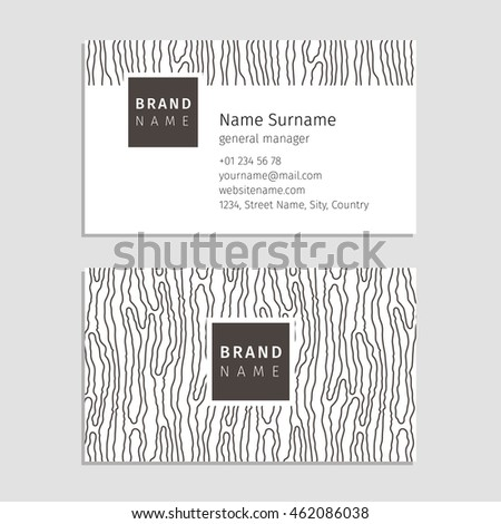 Vector Business Card Wood Texture Used Stock Vector 462086038 ...