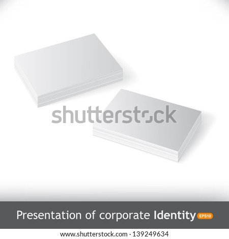Vector business cards isolated - stock vector