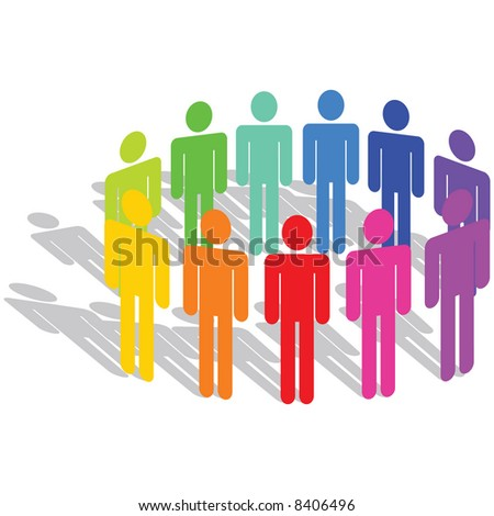 Vector - Business Concept - Diversity - stock vector