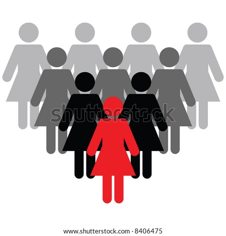 Vector - Business Concept - Stand out from the crowd. Be different - stock vector