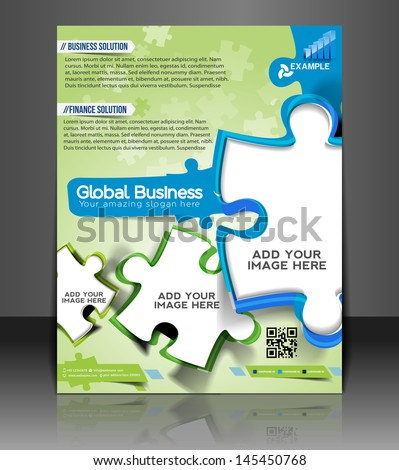 Vector Business Consultancy Flyer Magazine Cover & Poster Template. - stock vector