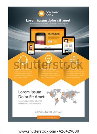 Brochure template layout cover design annual report magazine flyer - Flyer Design Stock Images Royalty Free Images Amp Vectors