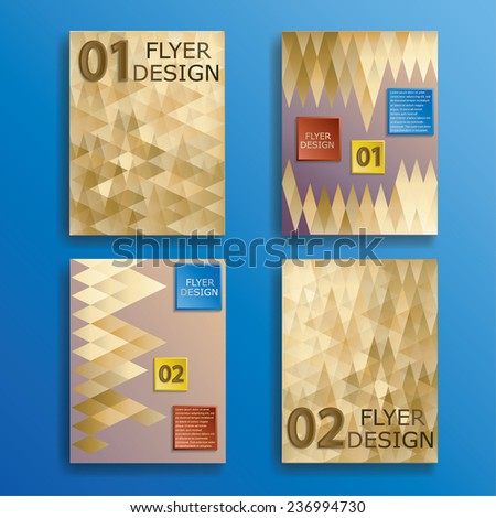 Vector Business Flyer Template. Abstract Corporate Banner Design with Geometric Elements. - stock vector