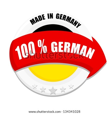 Vector business icon Made in Germany - stock vector