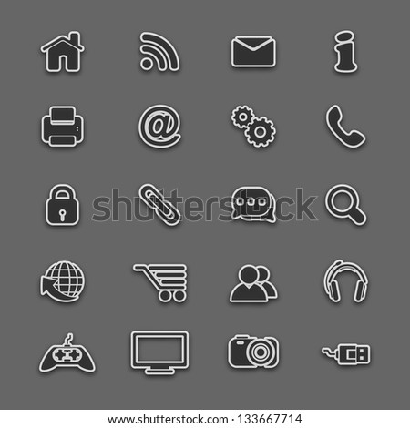 Vector business icon set. - stock vector