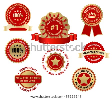 vector business labels - new collection - stock vector