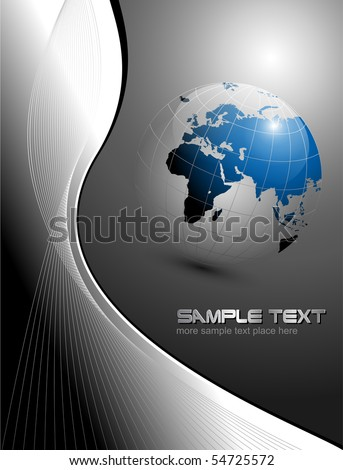 vector business  layout black and blue - stock vector