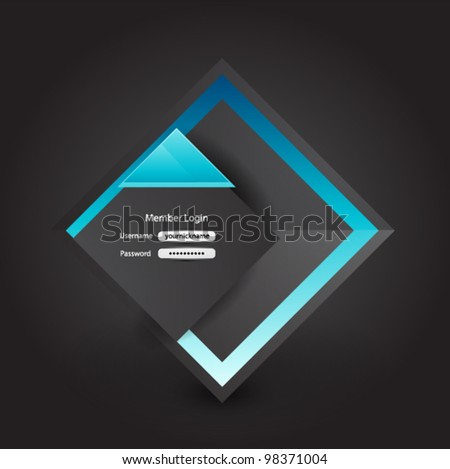 Vector business login page - stock vector