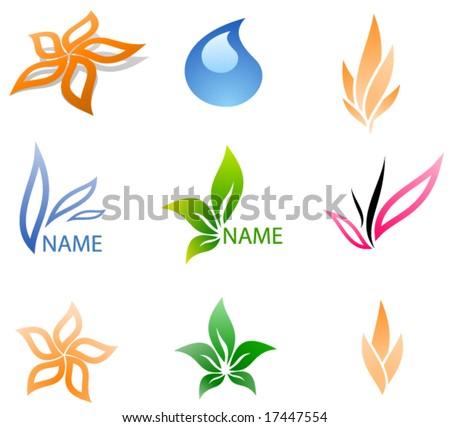 Vector business logos set - stock vector