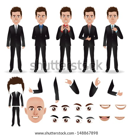 Man Body Part Name With Picture Men Body Parts Name Vector
