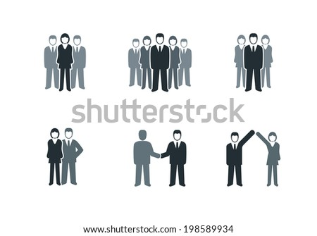 Vector business people symbol collection. - stock vector