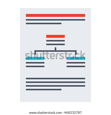 Vector business plan concept with paper document.