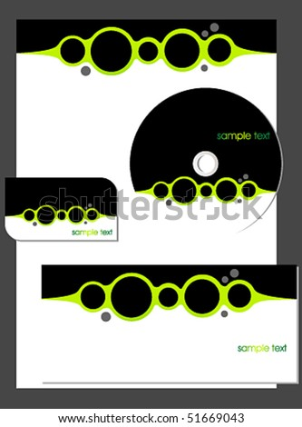 Vector business stationary set - stock vector